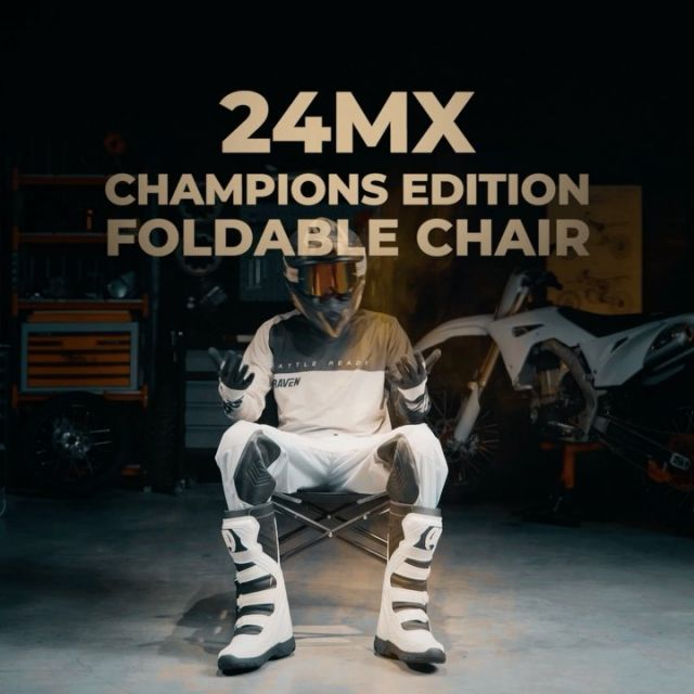 The Chair that every Racer should have🤩✊🏻🏁 #24MX  #championedition  #racechair  #paddock  #racesetup  #racingaccessories