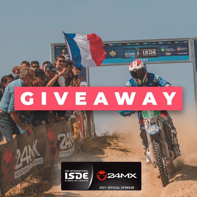 🏆 Oh, yes, it's giveaway time!🏆 We are one the official sponsors of Six Days of Enduro this year in Italy, and it's something definitely worth celebrating! 6 lucky winners now have the chance to win an Enduro kit from 24MX! Wanna join? 😎 Enter now & have the chance to win the following kit including: •24MX Goggle Case •24MX X-Mudder Pro Hydration System 16L •24MX Utility Waist Bag  How to enter?  1. Follow @24MX 2. Like this post 3. Tag 3 of your friends  🏁 Increase your chances of winning by sharing this post in your stories ✌🏻✨ ** you can enter multiple times by tagging different friends ** The lucky riders will be announced on 5th of September in our stories. ** Winners will be DM'd ** you need to have a public account to take part in the contest ** winners are responsible for any tax consequences #24mx #giveaway