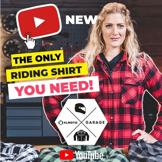 🚨<~>Youtube alert <~>🚨  Motorcycle riding shirts are a really stylish way to ride if you want to ride light but safe. Checkout our latest YouTube video where we are reviewing the Course Aramid Reinforced Overshirt. The Course Aramid Reinforced Overshirts comes in multiple colors and both for male and female sizes!   Link 🔗 in bio  #xlmoto #aramid #youtubevideos #motorcyclegear #explained Featuring| @thegirlonabike